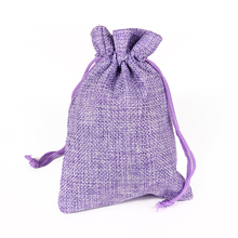 12Pcs Vintage Natural Jewelry Gift Bags Small Packaging Bags Pouches For Wedding Party Favor Jute Burlap Bags Pouch Drawstring