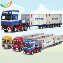 Dids Christmas gift Alloy engineering car models toy car mining machine dump-car mixer large blue toy scania trucks car