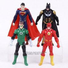 DC Comics Justice League Superman Batman Wonder Woman Green Lantern The Flash PVC Action Figures Toys Kids Boys Gifts 16cm
