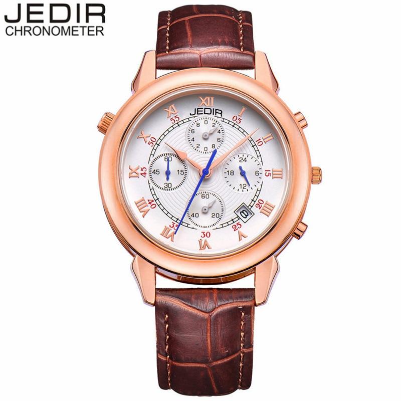 relogio masculino JEDIR Brand Chronograph Calendar Multifunction Quartz Watch Men Luxury Sports Watches Leather Strap Wristwatch<br><br>Aliexpress