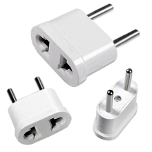 Mayitr New US USA to EU Europe Power Plug Adapter White AC Travel Power Converter Wall Charger