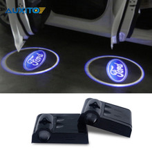 2x Car Door Logo Welcome Light For Ford Focus 2 1 Fiesta Mondeo 4 3 Transit Fusion Kuga Ranger Mustang Ecosport S-max C-max Vcm