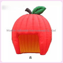 Cute fruit tent apple shaped inflatable booth tent inflatable apple tent inflatable stand inflatable bar tent for promotion