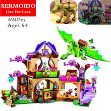 SERMOIDO Elves Secret Place parenting activity education model building blocks girls and children's toys compatible lepin B312