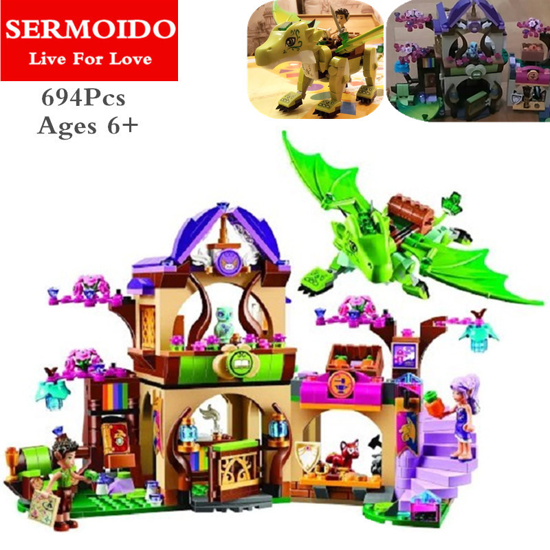 SERMOIDO Elves Secret Place parenting activity education model building blocks girls and childrens toys compatible lepin B312<br>