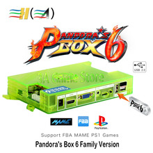 Pandora Box 6 1300 in 1 Pandora's Box Console Motherboard Family Version support 3d game can add 3000 games FBA MAME PS1 game(China)