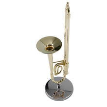 2017 Creative Mini Trombone A Nice Gift For Child Surface Gold Lacquer Mini Trombone Model Musical Instrument Trombone(China)