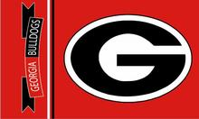 Georgia Bulldogs Football big G logo NCAA Fan Flag 3ft x 5ft Banner metal holes Flag Custom flag