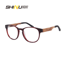 Popular Wooden Optical Myopia Eyeglasses Polarized Prescription Sunglasses Women Nearsighted Eyewear Diopter -1.0 to -4.0 ZF110