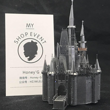 Cinderella Castle Puzzle 3D Metal Assembly Model Creative Gift Souptoys Fairy tale world Prince gift Collection Classic(China)