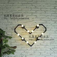 Water pipes heart-shaped source set produced 72 LOFT industrial water bedroom clothing store coffee bar wall lamp SG18 lo1019(China)