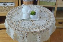 Chrismas Hand Crochet  Cotton Flower 100CM Round Tablecloths Coffee Table cloth Cotton Sofa towel Piano Cover cloth