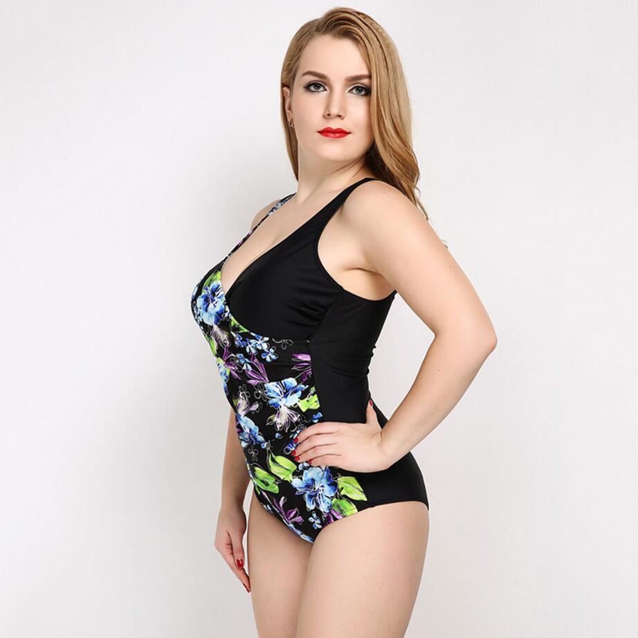 Favori new summer backless plus size swimwear large size swimwear women  PD42