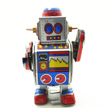 Antique Style Tin Toys Wind Up Toys Robots iron Metal Models for Children/Adult Home Decoration Metal Craft MS235 robot(China)