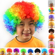 15 Colors Afro Clown Wig Curly Hair Wig Football Fan Fancy Dress Adult Kids Halloween Christmas Costume Party Supplies