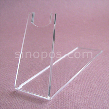 Clear Acrylic Pistols Holder, guns model shoes toy display stand plexi easel bracket glass showcase desktop gun rack exhibition