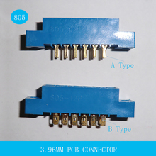 10PCS 805 Series 3.96mm Pitch 8P 12P 16P 20P 24P 30P 36P 44P 56P PCB Mount Card Edge Connector 72P 2X4P 2x6P 2x8P 2x10P 2x12P