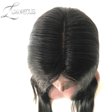 Luxurious 150% Density Silk Base Full Lace Wigs Straight Natural Color Brazilian Remy Human Hair For Black Women(China)