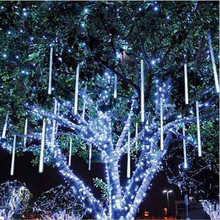 80cm Rain Drop/Icicle Snow Fall String LED Christmas tree decoration Cascading Meteor Light Decoration