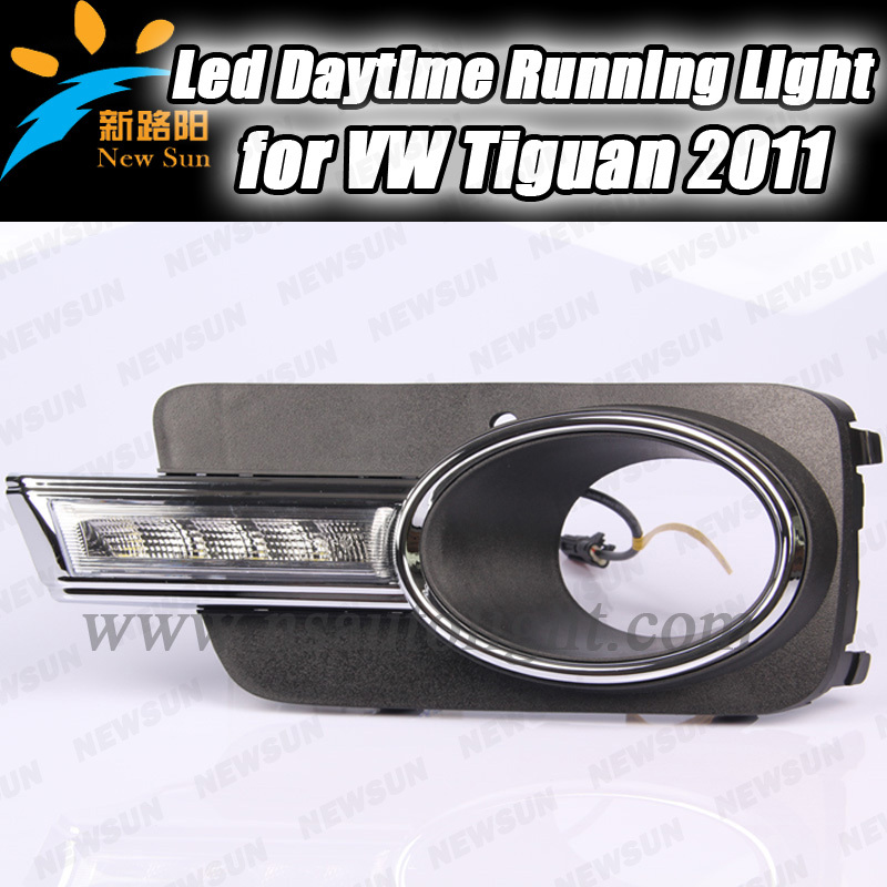 Special fit for VW Tiguan day lights, 7000K White Aluminium shell led day time running light<br><br>Aliexpress