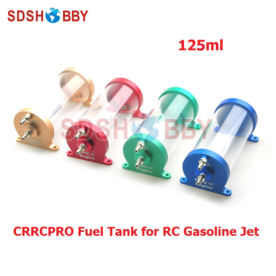 CRRCPRO CNC Made Transparent Anti-bubble 125ml Fuel Tank for RC Jet Aircraft<br>