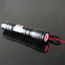 OXLasers 200mW powerful mini red laser pointer torch with focusable lens and 5 star caps free shipping(China)