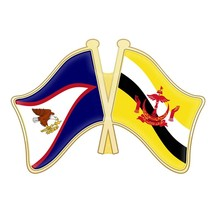 American Samoa and Brunei Darussalam Burkina Faso Cameroon Canada Cape Verde Cayman Islands Chad Comoros Double Flags Lapel Pins(China)