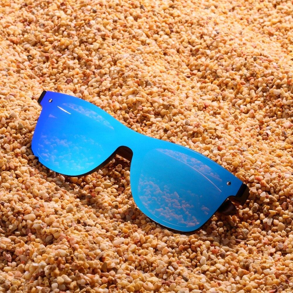 Drewniane okulary przeciwsłoneczne C04- niebieskie - heban 9