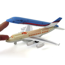 Alloy Airbus A380 Toys Model Plane Back To The Simulation of Civil Aviation Passenger Plane(China)