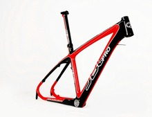 "JBC Lightning Carbon MONOCOQUE MTB Frame with Seat Post and BB30 17"" 18"" RED color"