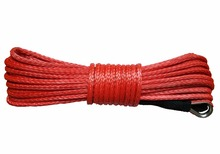 4mm x 12m Synthetic Winch Line UHMWPE Fiber Rope Towing Cable Car Accessories For 4X4/ATV/UTV/4WD/OFF-ROAD(China)