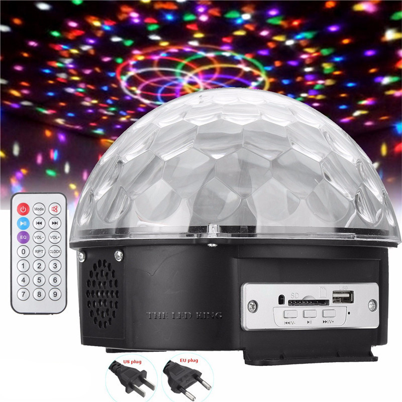 6w 9w Voice Control Rgb 3in1 Led Stage Lamps Battery Operated Crystal Magic Ball Laser Projector Disco Stage Effect Light Commercial Lighting Stage Lighting Effect