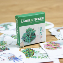 40 Pcs/box Cute Creative Plants Succulents Mini Paper Sticker Decoration Diy Ablum Diary Scrapbooking Label Sticker Stationery