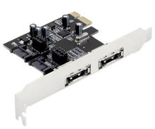 New Original Desktop PCIE To SATA eSATA PCI-E X1 Card SATA3.0 SATA3 SSD HDD Storage ASM1061 2XSATA or 2XESATA WinXP/7/8