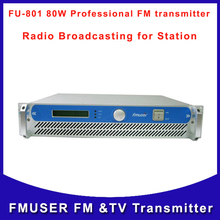 Fmuser CZH FU-801 80W Professional FM audio Transmitter Wireless Campus Broadcast Online Radio cover 10KM-15KM Free Shipping(China)