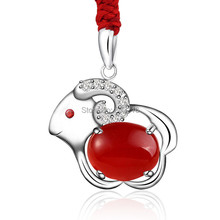2017 New 925 Fashion Jewelry Lovely & Cute Sheep Animal Pendant Necklace For Women Young Lady Girls Gifts