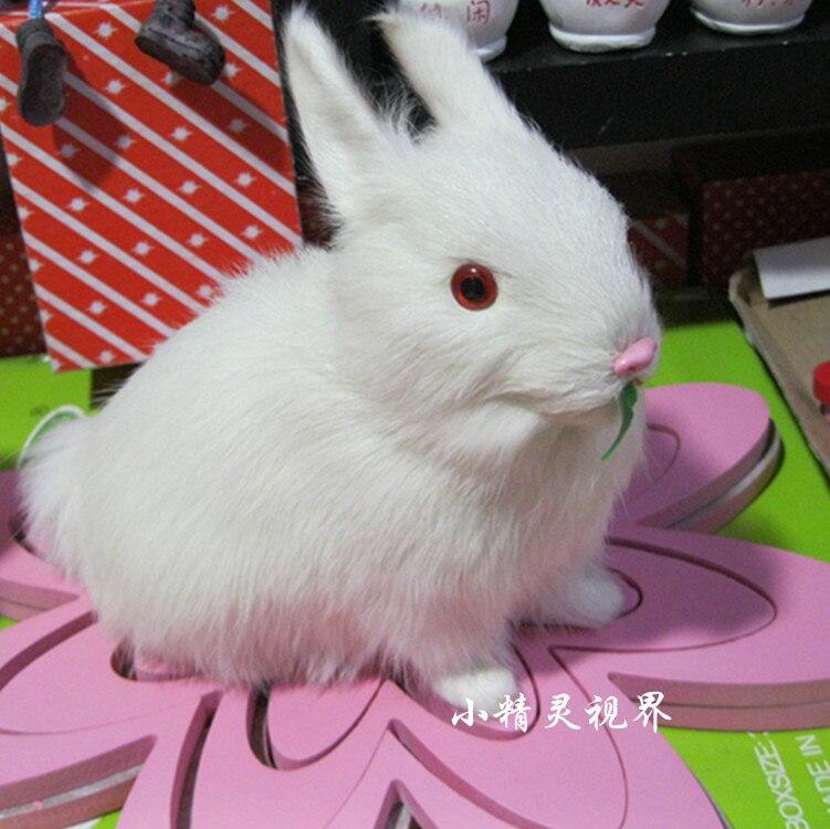stuffed animal 16x15cm white rabbit plush toy emulation doll k0099<br><br>Aliexpress