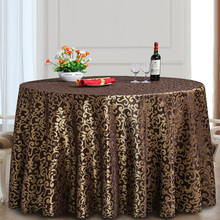 Jacquard Polyester Round Table Cloth Rectangular Tablecloth Hotel Party Wedding Tablecloth Washable Fabric Cloth Table Hot Sale