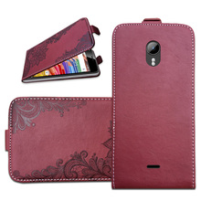 Brand Flip Case For Micromax Canvas Pace 2 Q480 3D Embossing PU Leather Protective Bags Cover With Card Pocket