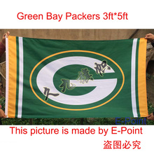 Green Bay Packers Flag 3ft x 5ft (90cm*150cm) Polyester NFL flag(China)