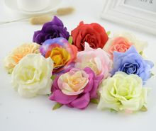5pcs artificial flowers silk flower roses head for home wedding car decoration Bridesmaids bouquet flip flops fake flowers(China)