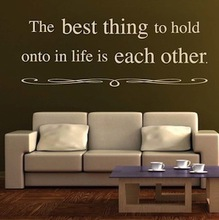 Wall Sticker THE BEST THING TO HOLD ON Quote Sayings Wall Lettering Quote Wall Stickers(China)