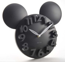 Mickey Mouse Acrylic Electronic Large decorative Wall Clock Modern Design Kitchen Watch silent 3D Digital Wall Clock home decor(China)