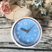 Silent Blue Suction Cup Bathroom Wall Clocks Silicon Rubber Waterproof Clocks Kitchen Brack Glass Mirror Clock Quiet Simple(China)