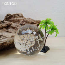 XINTOU Crystal Indoor Fountains Bubbles Ball Crafts Home Water Fountain Decorative Glass Marbles Feng shui Balls terrarium decor