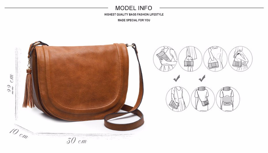 AMELIE GALANTI casual crossbody bag soft cover solid saddle fashion women messenger bags high quality shoulder bag for women (2)