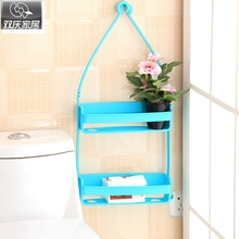 bathroom shevles magic seamless soap box bathroom kitchen wash basin shelf creative plastic storage holder towl rack hooks(China)