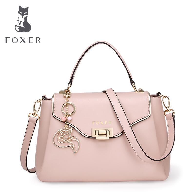 FOXER brand women bag 2016 new women leather bag fashion quality women handbags shoulder cowhide simple female bag<br><br>Aliexpress