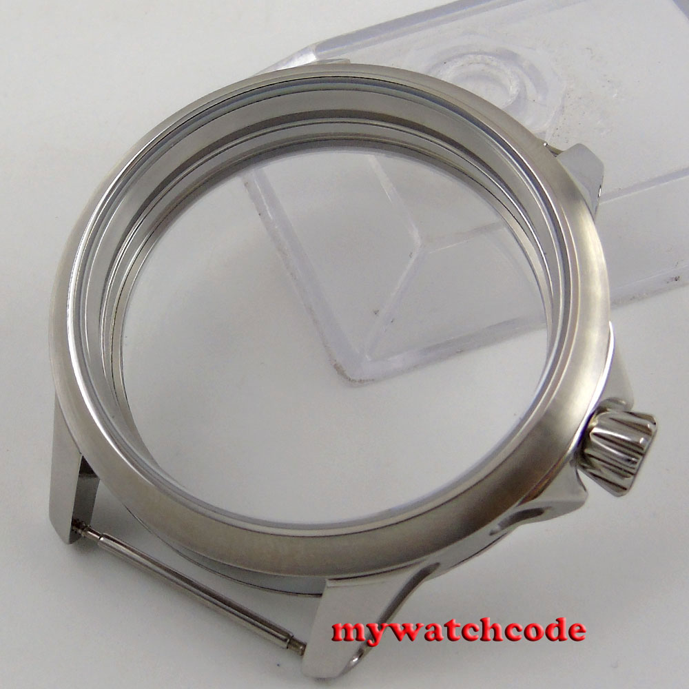 45mm brushed 316L stainless steel corgeut Watch CASE fit 6498 6497 movement C108<br>