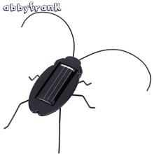 Solar Toy Solar Powered Toy Energy Crazy Cockroach 6 Legs Insect Bug Black Juguetes Solares Brinquedo Green Solar Power For Kids
